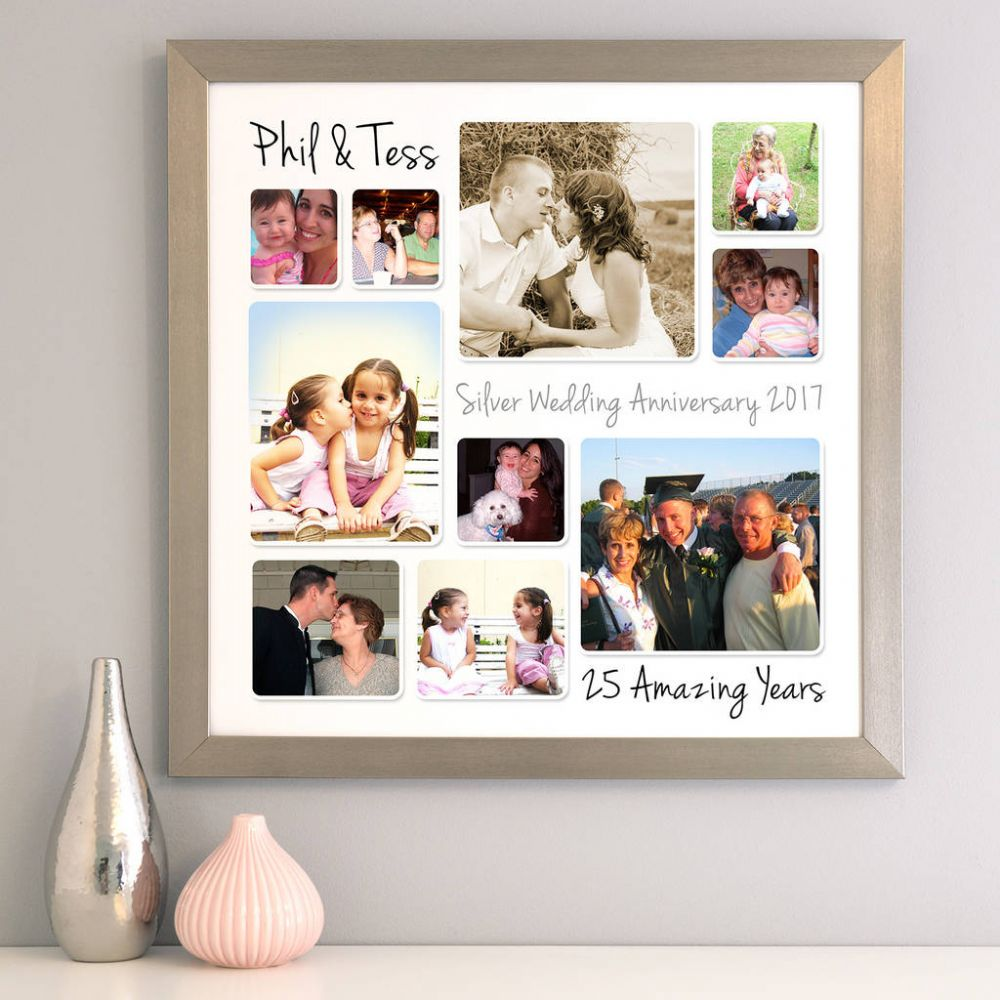 M - 50th Anniversary Collage Picture Frame 50th anniversary photo collage